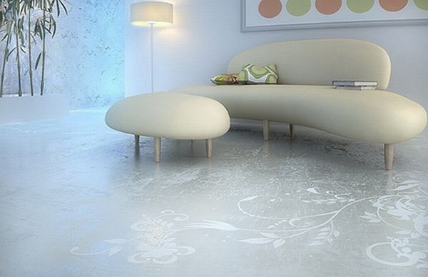 transparent house concrete art floor Elegant Art Patterns for Your Floor
