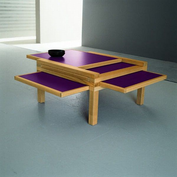 Cool expandable coffee and dining tables by Sculrtures jeux 3  Interesting Expansible Coffee Tables