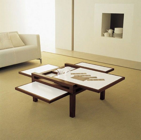 Cool expandable coffee and dining tables by Sculrtures jeux 4  Interesting Expansible Coffee Tables