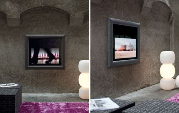 Cool wall decorating ideas TV Frame by Dhesia 5 554x350 Frames for  Your TV