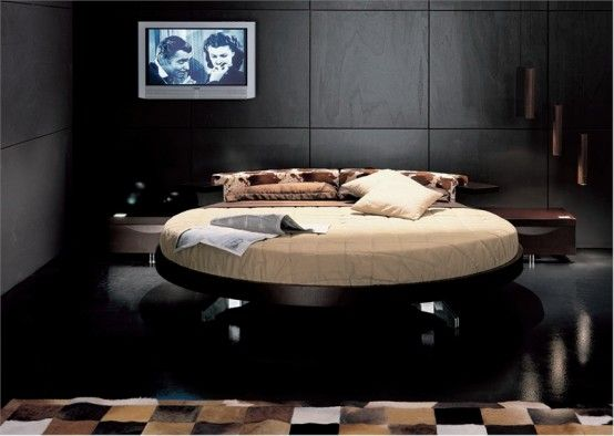 Leather Round Beds by Prealpi 7 Italian Furniture: Modern Leather Round Beds by Prealpi