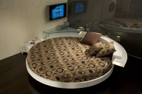 Leather Round Beds by Prealpi 8 Italian Furniture: Modern Leather Round Beds by Prealpi