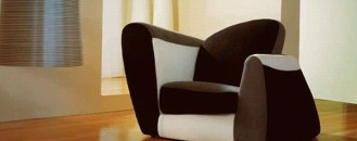 Symbol, an Armchair With a Colorful Design