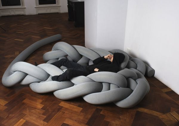 baukeknottnerusgreycouch Giant Thread or Unconventional  Furniture?
