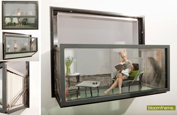 Bloomframe : Innovative Window which can be Transformed into a Balcony