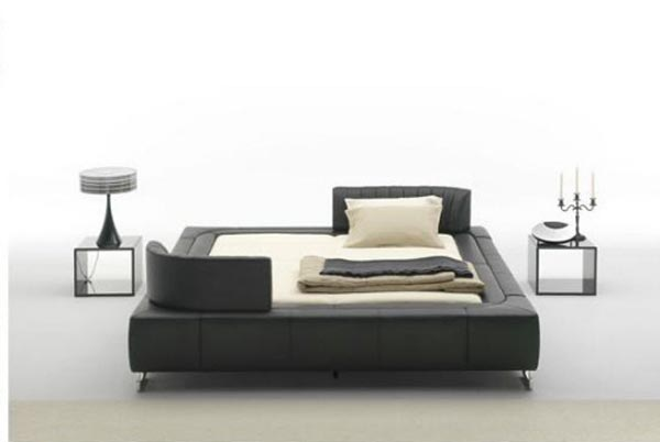 leather beds sede3 Low Profile Beds with Adjustable Headboard to Fit Your Needs