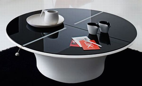 Lotto Coffee Table with Hidden Storage Space
