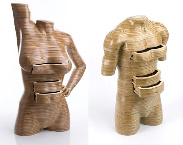 Nude Woman Body Furniture by Peter Rolfe