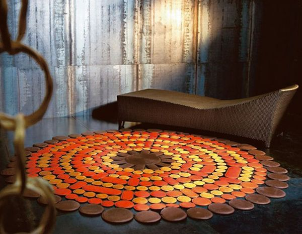 pacha mama carpet cosmic sunshine 2 Dots Leather Carpets from  Eclipse
