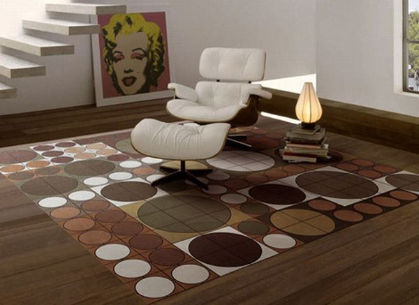 pacha mama carpet eclipse 2 Dots Leather Carpets from Eclipse