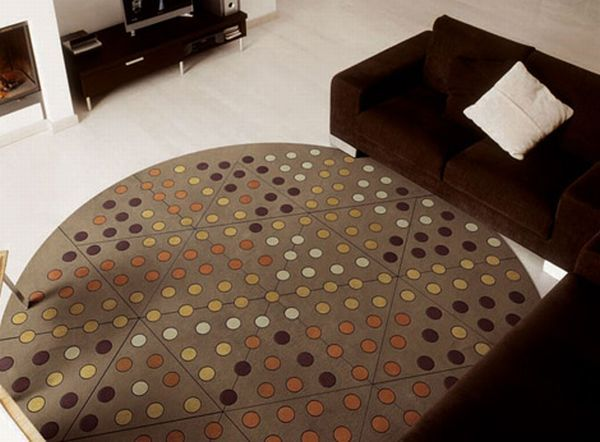 pacha mama carpet eclipse 3 Dots Leather Carpets from Eclipse