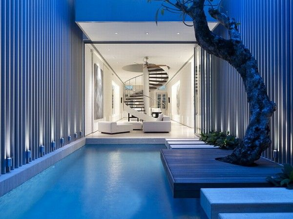 House Plans and Pools Inspiring Home with One Garden per Level in Singapore