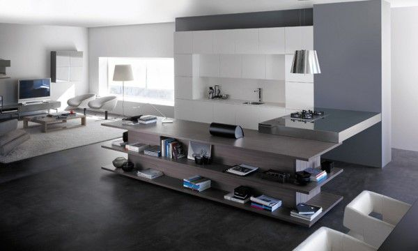Kitchen Integrated In Living-Room