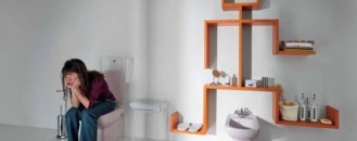 Shelving Units from Lago- Color and Diversity