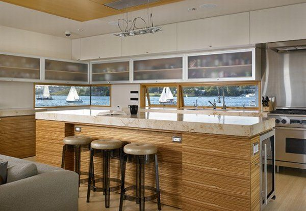 modern floating home 4 554x415 Floating House in Seattle