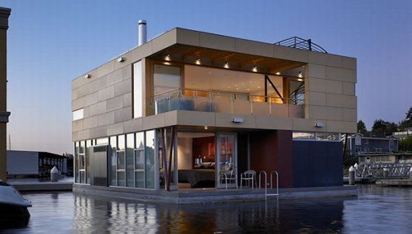 modern floating home 8 554x341 Floating House in Seattle