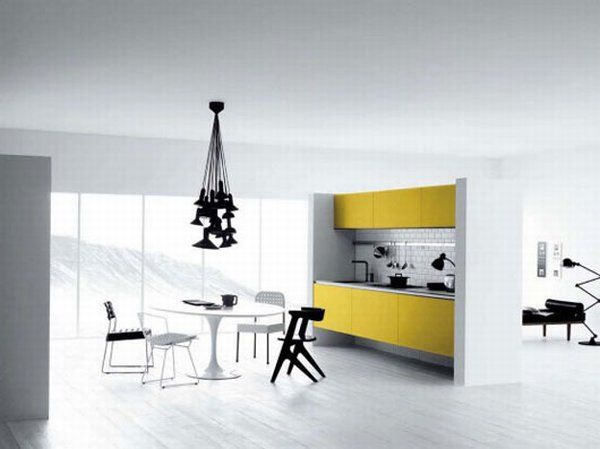 white yellow kitchen 02 Vetronica Kitchen From Mesons