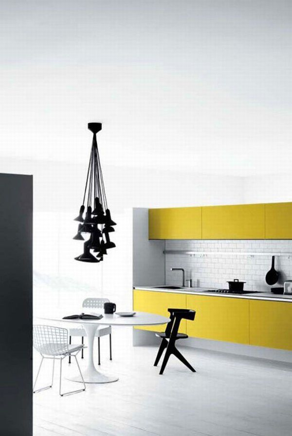 white yellow kitchen 04 Vetronica Kitchen From Mesons