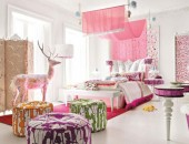 Charming and opulent Pink girls room Altamoda Girl 8 170x130 Charming Turn of the Century Duplex with Modern Decorations
