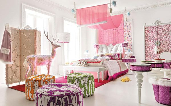 Charming and opulent Pink girls room Altamoda Girl 8 Beautiful Little Girls Bedroom with a Fairy tale Ambiance