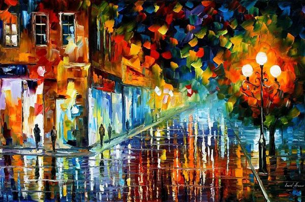 Leonid Afremov Paintings, Wild on Colors