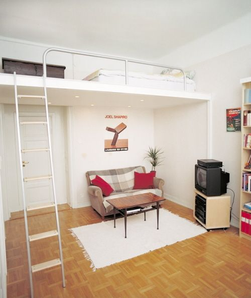 Compact living ideas lofted beds alternative for Murphy beds for small spaces