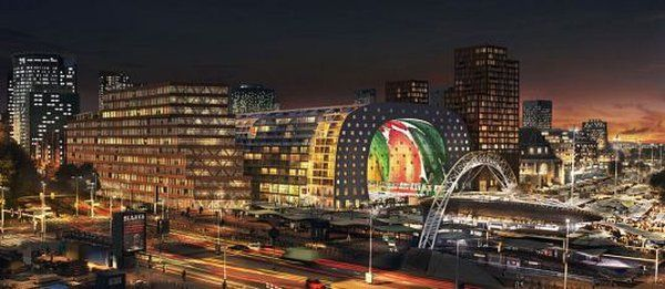 Rotterdamn Market 2 New Market in Rotterdam Shaped Like A Tunnel: A New Approach To Urban Architecture