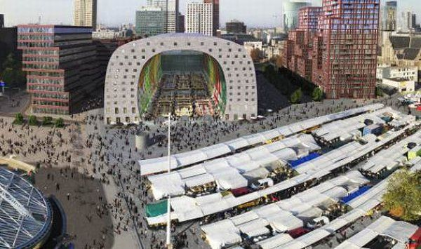 Rotterdamn Market 6 New Market in Rotterdam Shaped Like A Tunnel: A New Approach To Urban Architecture
