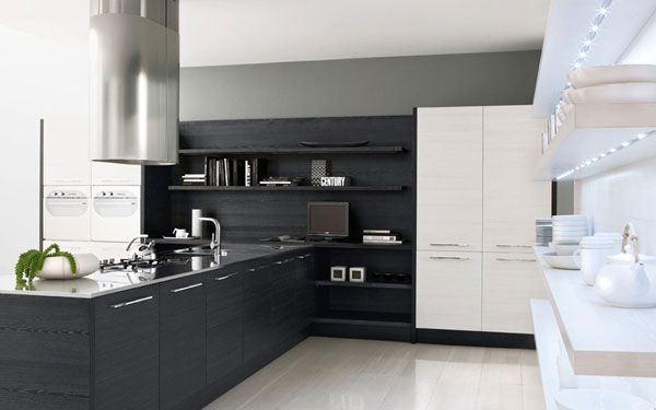 Minimalist Black - White Kitchen Design
