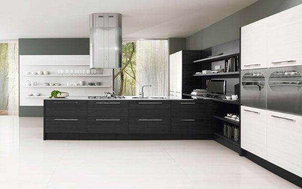 black white kitchen3 Minimalist Black & White Kitchen Design by Futura Cucine, outdoor kitchen plans, California pizza kitchen, America's test kitchen, kitchen accessories, kitchen curtains, kitchen gadgets, kitchens, outdoor kitchens, kitchen design ideas, kitchen ideas, kitchen designs, kitchen backs plash
