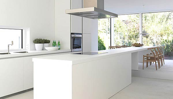 Minimal Super Stylish White Kitchen Designs