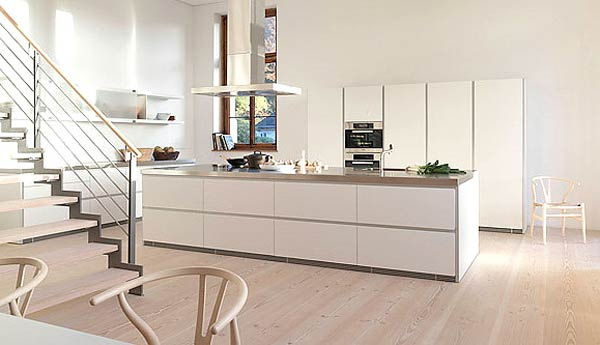 bulthaup white kitchen 3 Minimal Super Stylish White Kitchen : Bulthaup B1