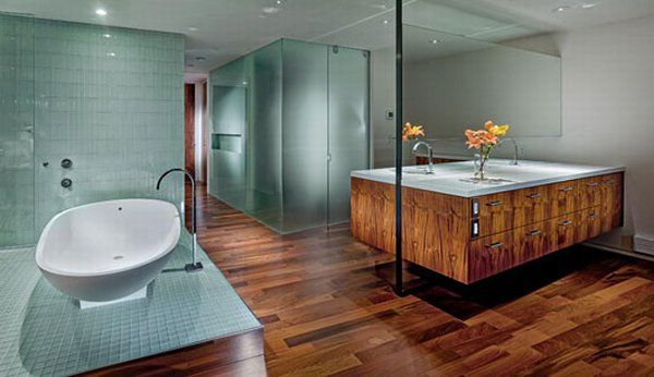 Amazing Pentouse Interior Design by Craig Steely bathroom vanities