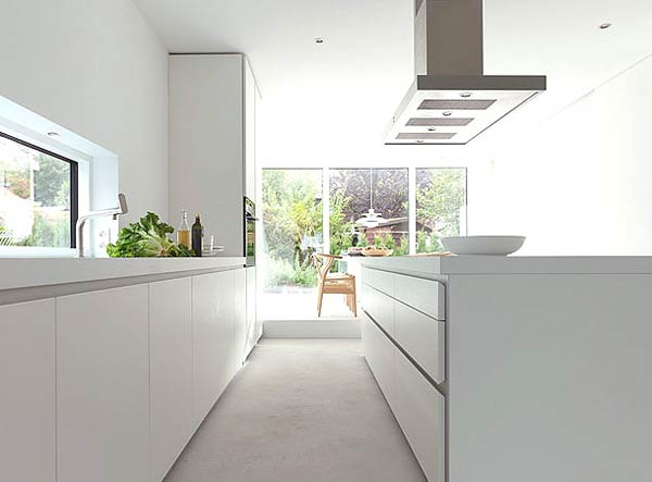Minimal Super Stylish White Kitchen Interior  Designs
