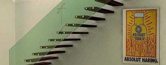 Gorgeous Wood and Glass Staircases by Siller