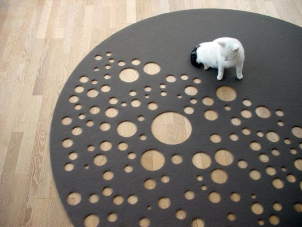 Cool Floor Carpet Dark Side of the Moon by Vorwerk 1 Cool Modern Carpet Design by Martin Mostböck