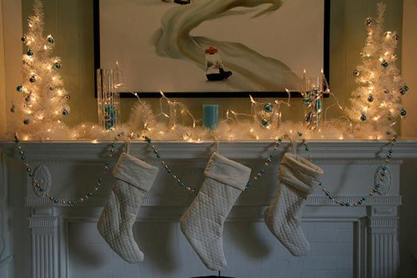 Collect this idea christmas-mantel-lights-decorations