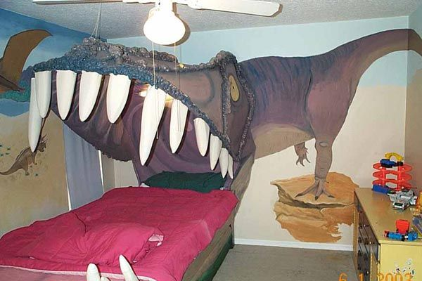 Prime Kids Bedroom Design Idea Sleeping Within A Dinos Jaw Home Interior And Landscaping Eliaenasavecom