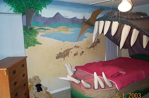 Peachy Kids Bedroom Design Idea Sleeping Within A Dinos Jaw Home Interior And Landscaping Eliaenasavecom
