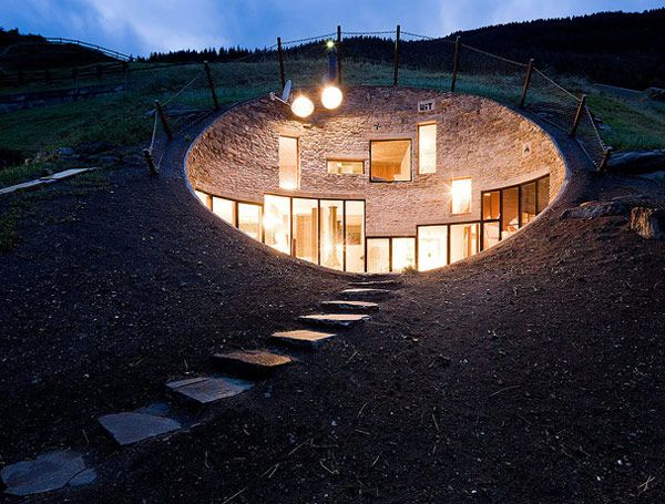 underground home designs swiss mountain house 1 Incredible  Underground Residence in Switzerland