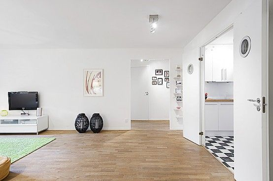 Apartment Interior Design that Combines Black and White  008 Black, White an Wood: How is That For An Apartment Design?
