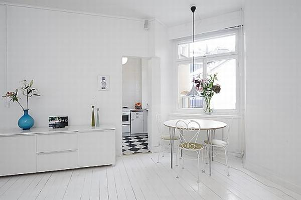 clean white small apartment interior design 8 554x369 Simple and Elegant White Apartment