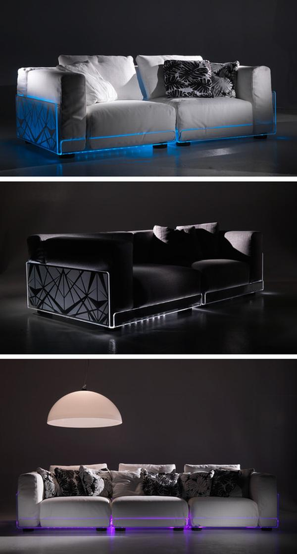 LED Sofas for Funky Interiors