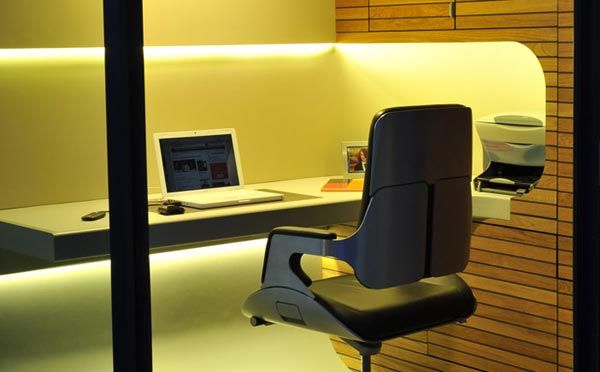 interior design: luxury small office in garden