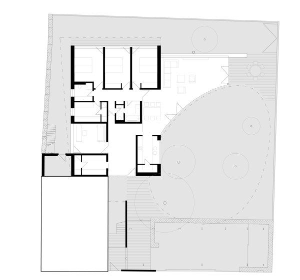 1262118538 ground floor plan Egg House, A Fantastic Circular   Residence in Prague