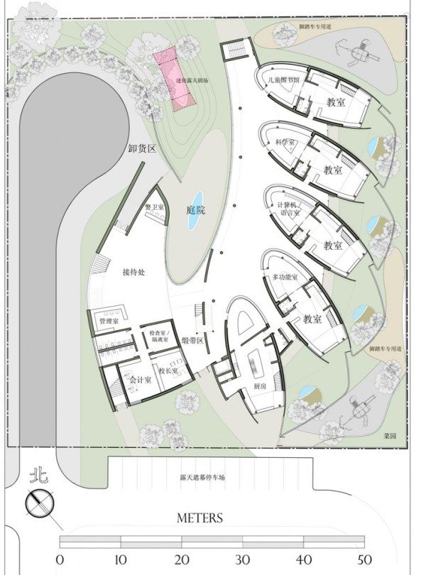 1265892997 site plan 741x1000 Preschool Project in China from   Debbas Architecture