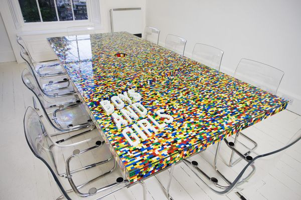 Cool Conference Room Table Made From LEGO Blocks