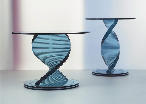 Elica 01 Glass Coffee Tables Collection From Tunelli