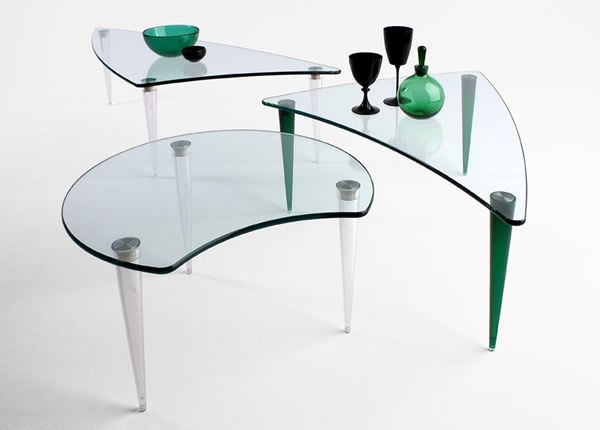 Lobacevskij 04 Glass Coffee Tables Collection From Tunelli
