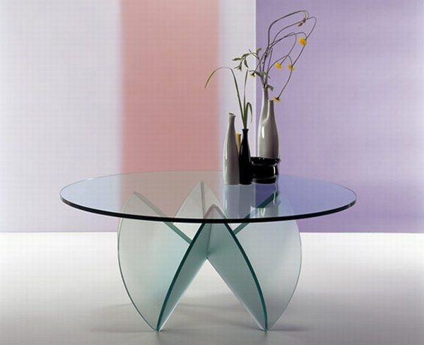 Rosa del deserto 01 Glass Coffee Tables Collection From Tunelli